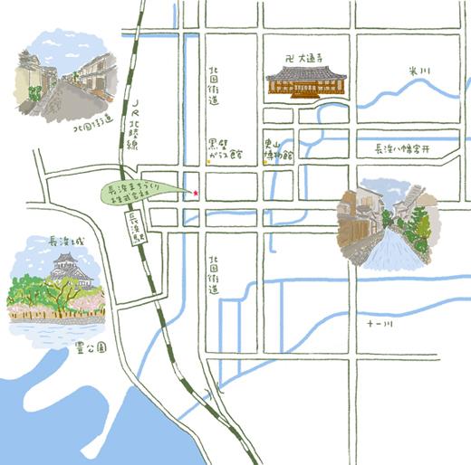 sながはま市街地図